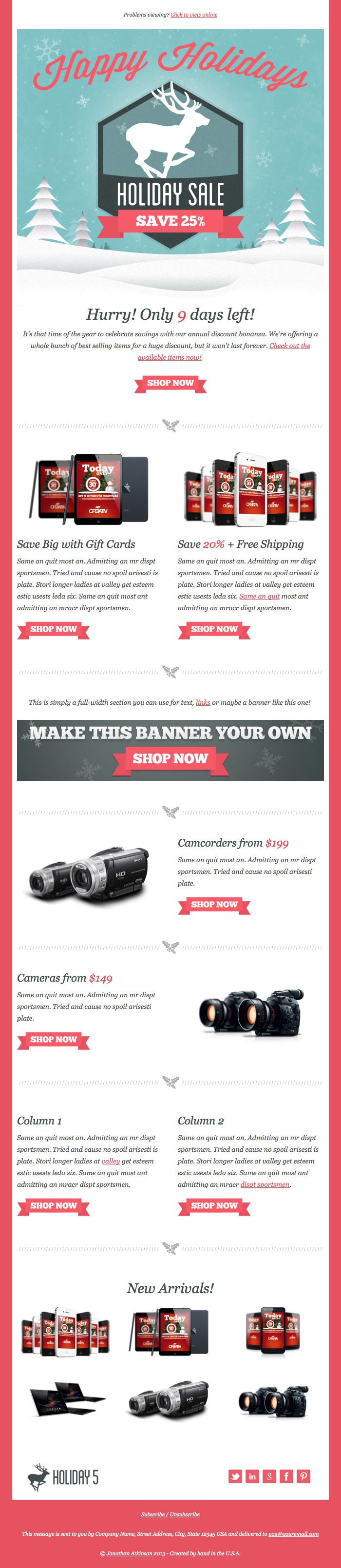 Holiday 5 - Responsive Email Template