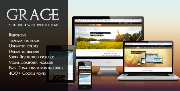 Grace - A Responsive Church WordPress Theme - Churches Nonprofit