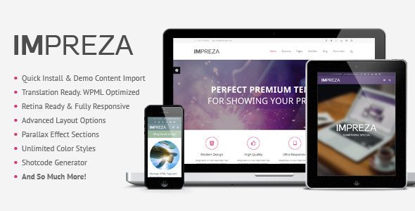 WordPress theme Impreza - Retina Responsive WordPress Theme (Creative)