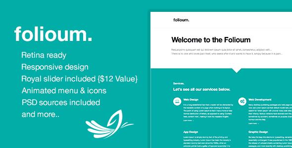 ThemeForest Folioum Retina HTML5 Website Portfolio Template 6434393