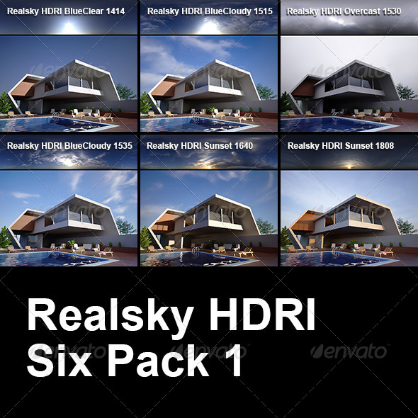 3DOcean Realsky HDRI Six Pack 1 6434449