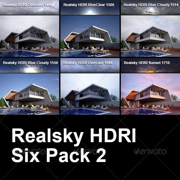 3DOcean Realsky HDRI Six Pack 2 6434459