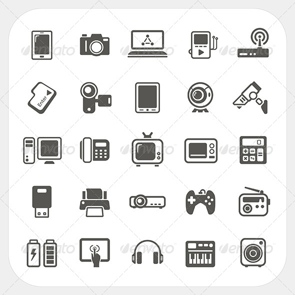 GraphicRiver Electronic Device Icons Set 6434500