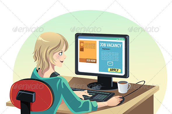GraphicRiver Woman Searching for a Job 6435436