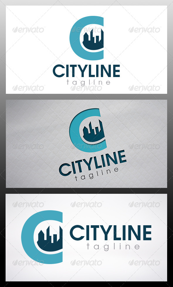 GraphicRiver City Letter C Logo 6435860