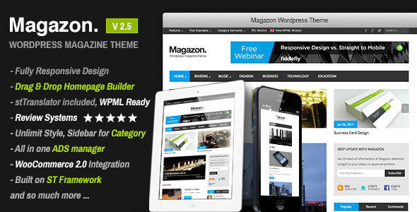Magazon - Advanced, Responsive WP Magazine Theme - News / Editorial Blog / Magazine
