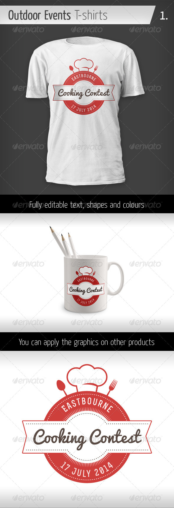 GraphicRiver Outdoor Events T-shirts Cooking contest 6436095