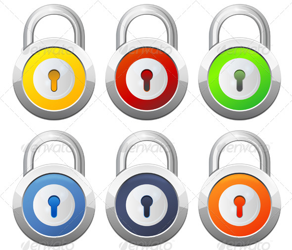 GraphicRiver Padlock Illustration 6436508