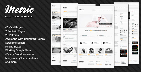 METRIC - Premium HTML Template - ThemeForest