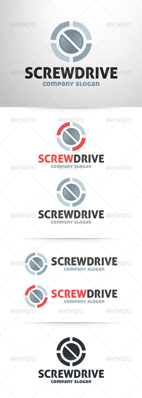 GraphicRiver Screwdrive Logo Template 6436685