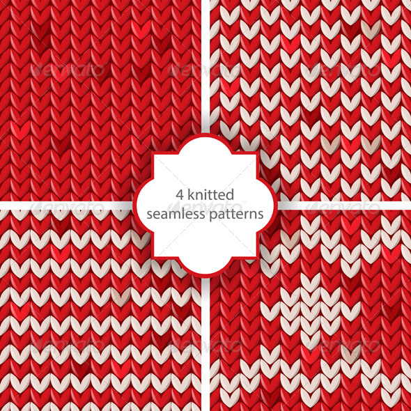GraphicRiver Knitted Patterns 6436754