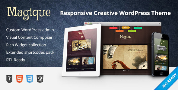 Magique - Ultimate Creative WordPress Theme - Creative WordPress