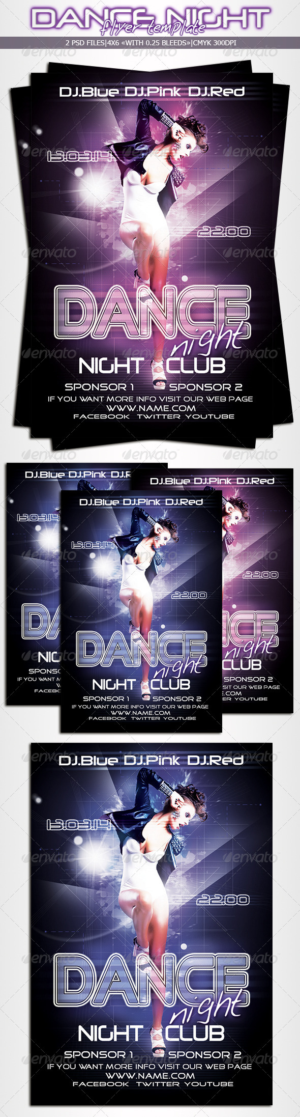 GraphicRiver Dance Night Flyer 6436827