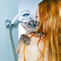 Girl and Cat in Shower - PhotoDune Item for Sale
