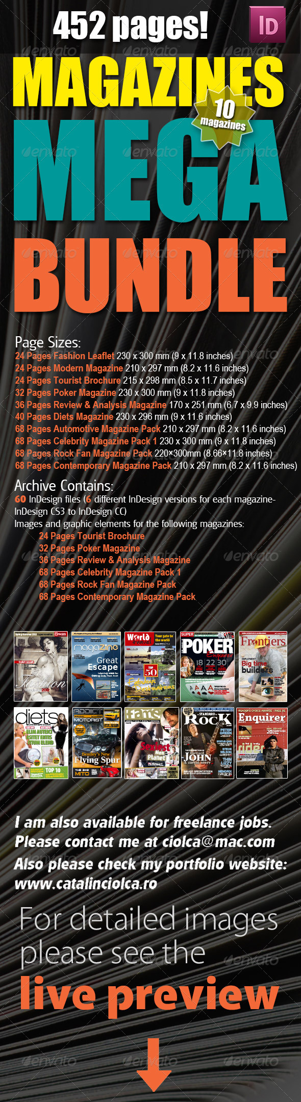 GraphicRiver 10 Magazines Mega Bundle 6437513