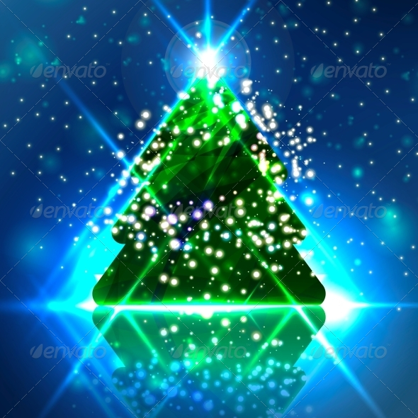 GraphicRiver Abstract Christmas Tree 6437554