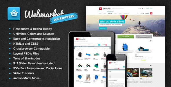 ThemeForest Webmarket WP WooCommerce Theme for Online Shop 6437728