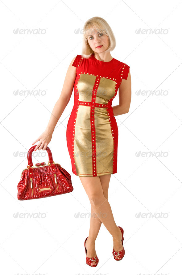 Lady in red - Stock Photo - Images