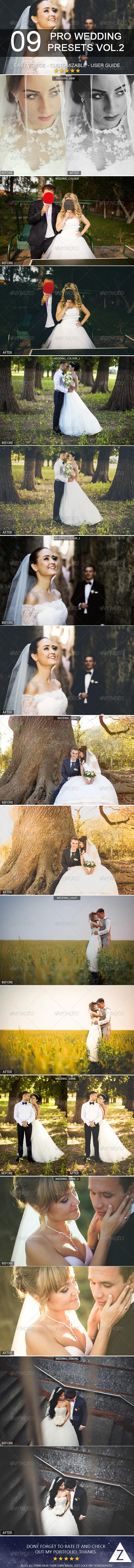 GraphicRiver 9 Pro Wedding Presets vol.2 6441398