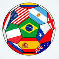 soccer with various flags - Brazil 2014 - PhotoDune Item for Sale