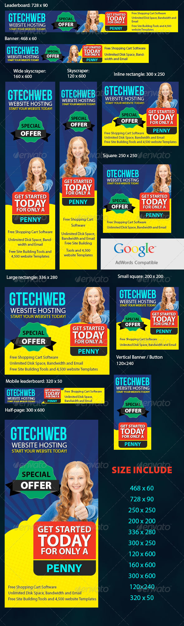 GraphicRiver Creative Adwords Banners 6444240