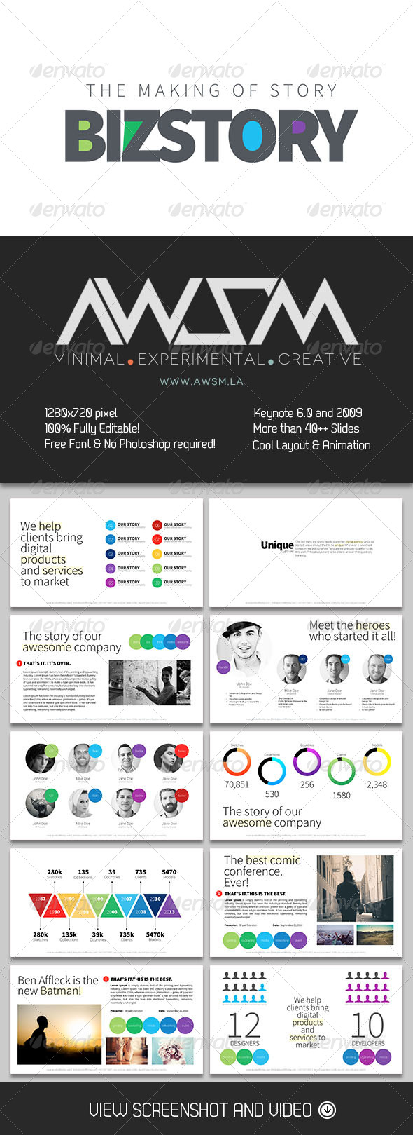 GraphicRiver Biz Story Keynote Template 6444681