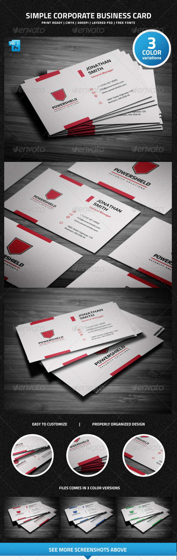 GraphicRiver Simple Corporate Business Card 6415877