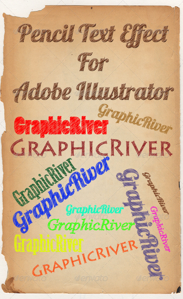 GraphicRiver Pencil Text Style 6445299