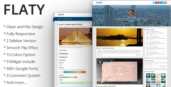 ThemeForest Flaty Simple Flat Theme For Ghost 6444339