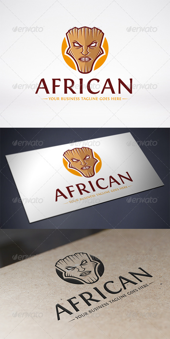 GraphicRiver African Mask Logo Template 6446111