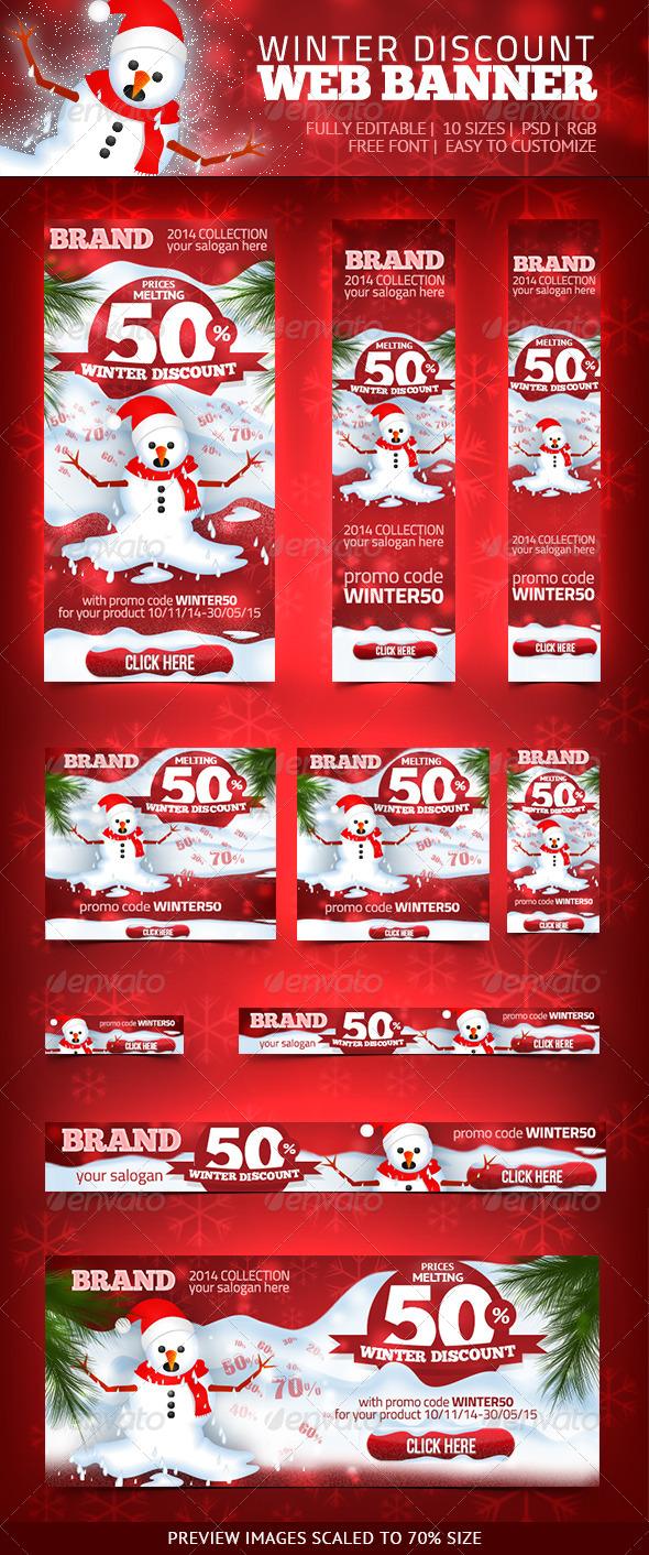 GraphicRiver Winter Discount Web Banner 6446116