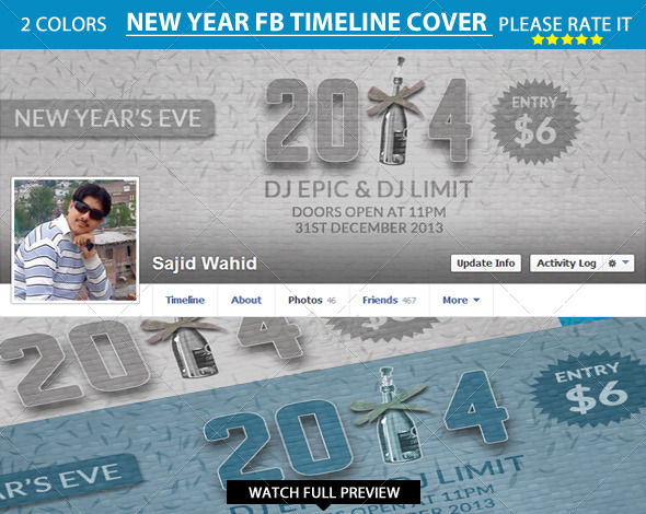 GraphicRiver New Year s Facebook Timeline 6446130