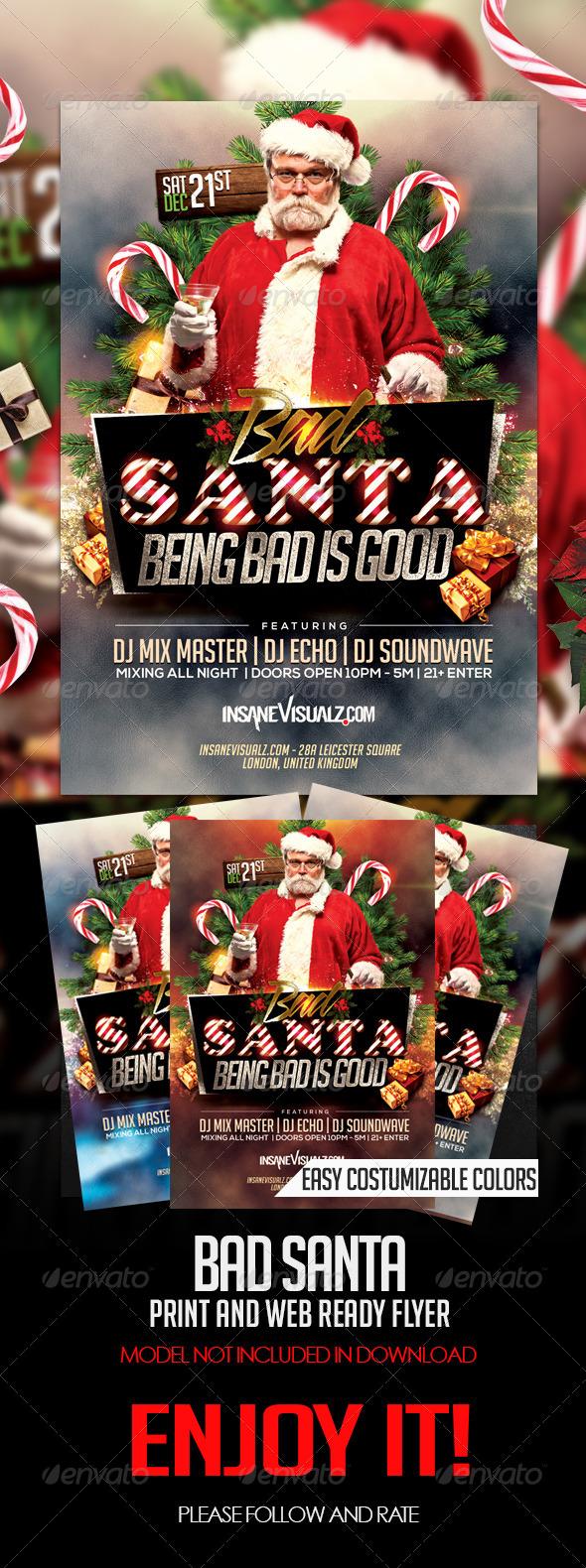 GraphicRiver Bad Santa Flyer 6416950