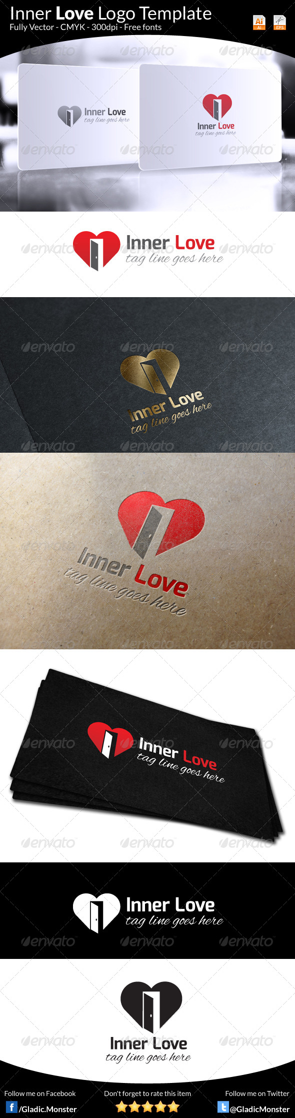 GraphicRiver Inner Love Logo Template 6446561