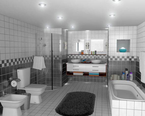 3DOcean Realistic Bath Room 673662