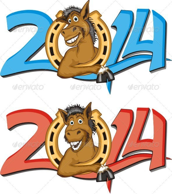 GraphicRiver Horse Year 6446672