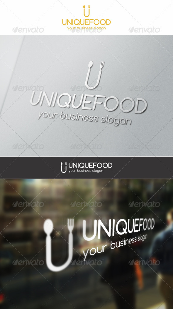 GraphicRiver Unique Food Logo 6446774