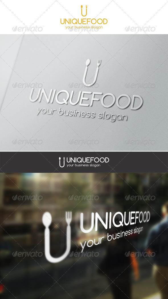 GraphicRiver Unique Food Logo 6446774
