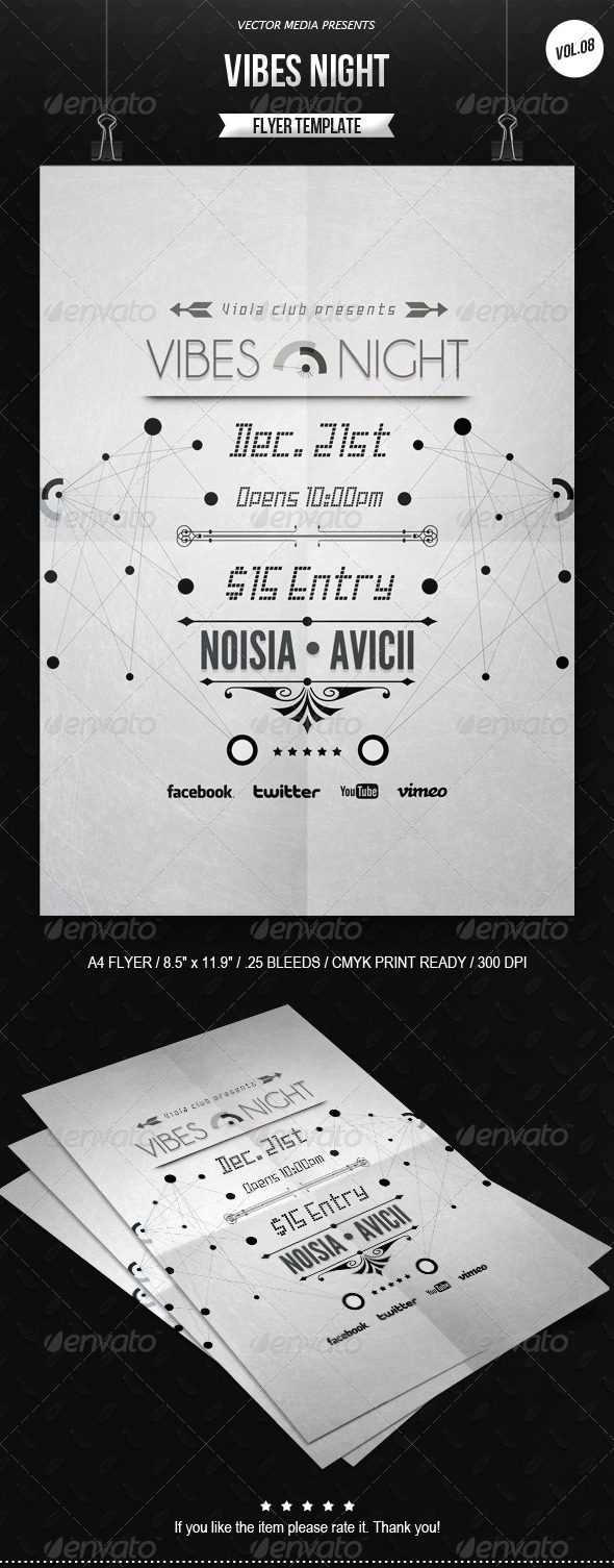 GraphicRiver Vibes Night Flyer [Vol.8] 6446912