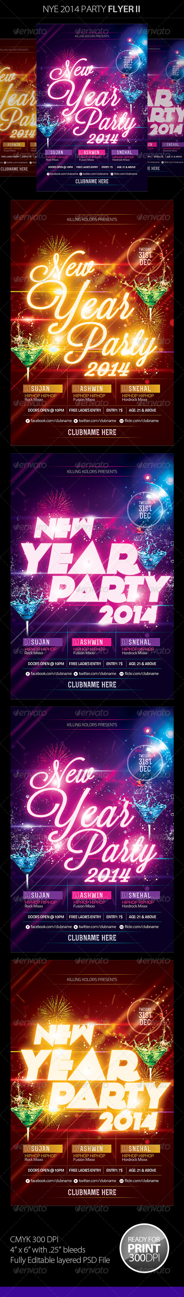 GraphicRiver New Year Party Flyer 6446961