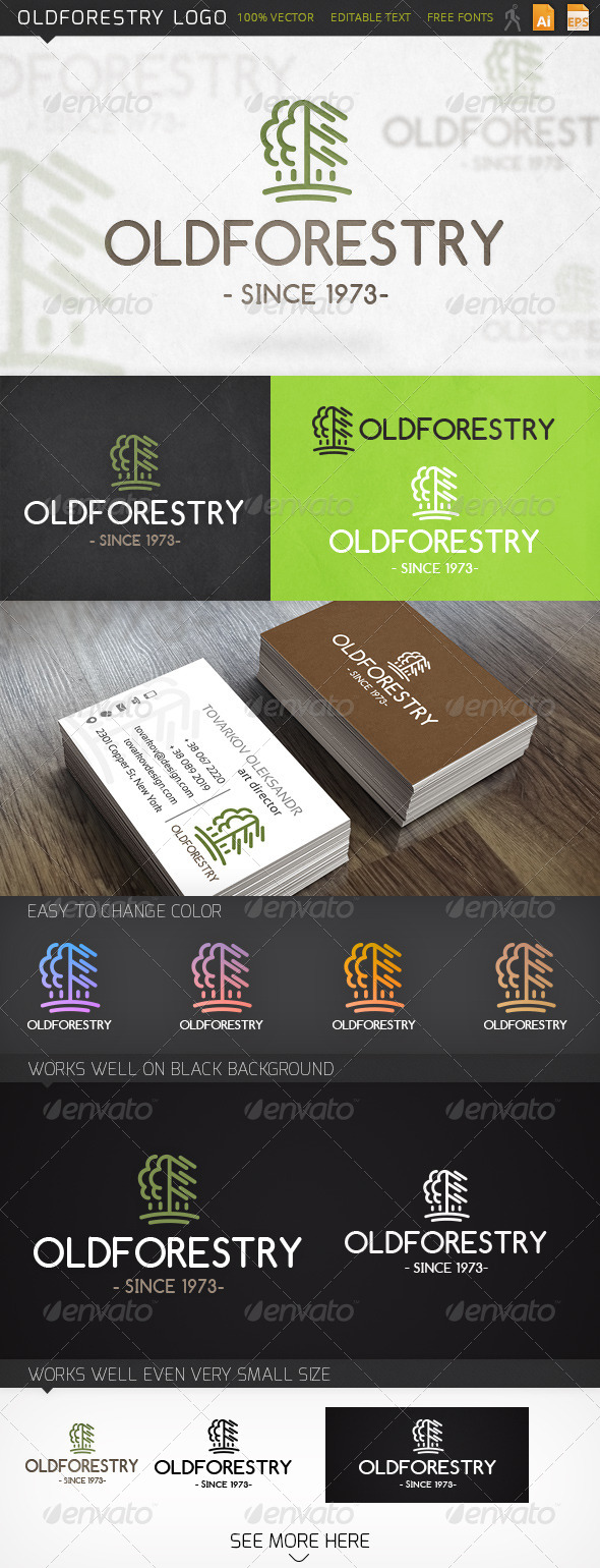 GraphicRiver Oldforestry Logo 6447246
