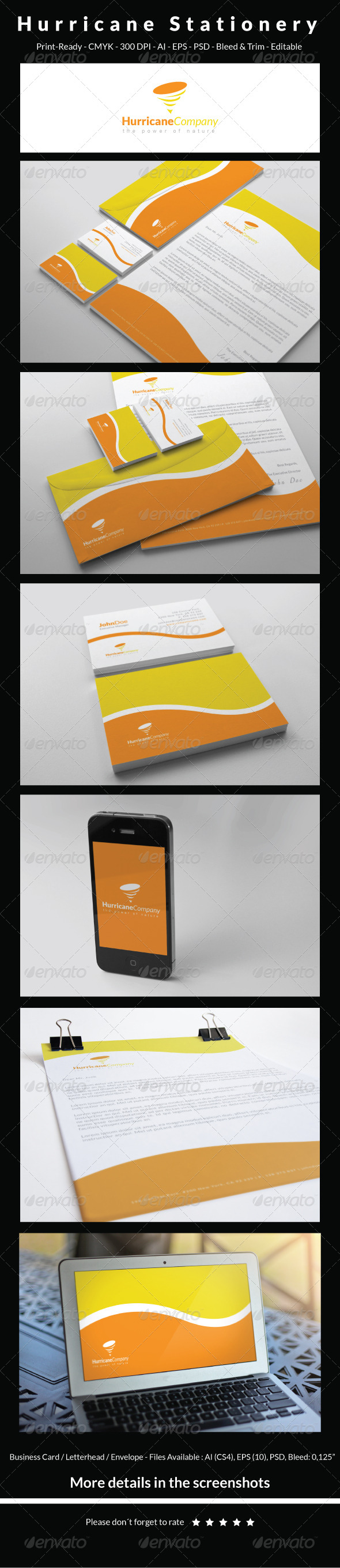 GraphicRiver Hurricane Stationery 6447677