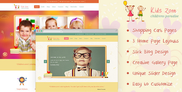 Kids Zone | Childern PSD - Children Retail