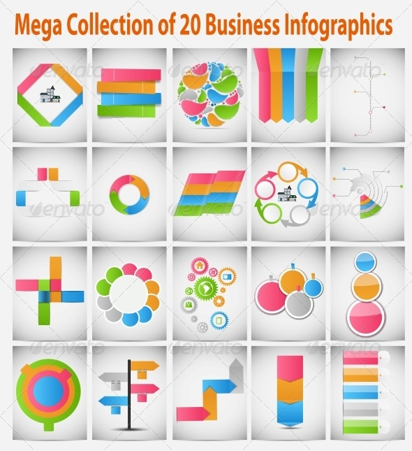 GraphicRiver Mega Collection of Business Infographics 6449023