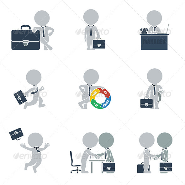 GraphicRiver Flat People Business 6450282
