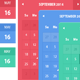 Flat Calendars with Date Icons - GraphicRiver Item for Sale