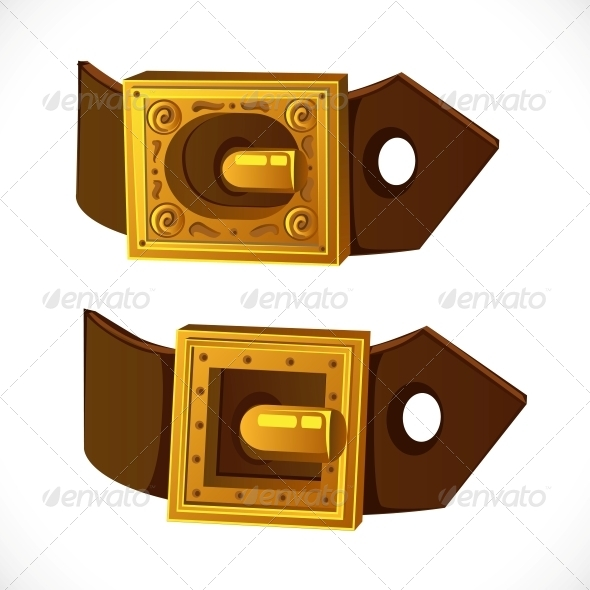 GraphicRiver Gold Buckle on Brown Belt 6451377