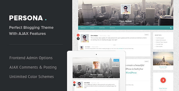 Persona - Responsive AJAX Blog and Portfolio Theme