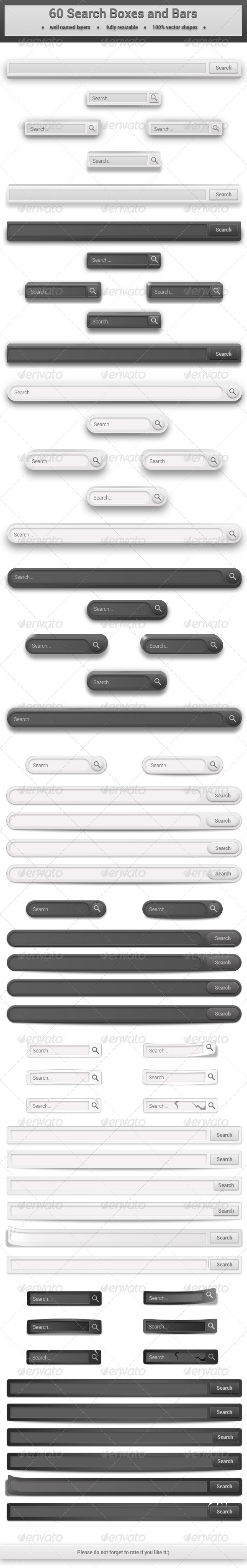 GraphicRiver 60 Search Boxes and Bars 6451769