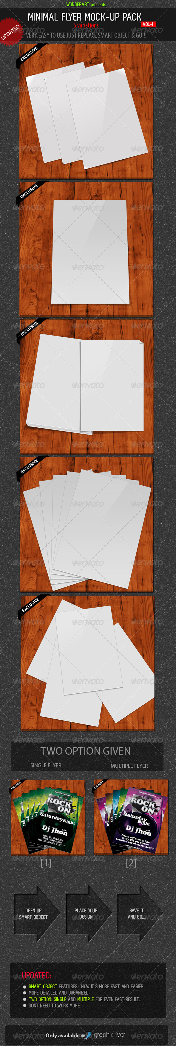 GraphicRiver Minimal Flyer Mock-up Pack vol-1 273156